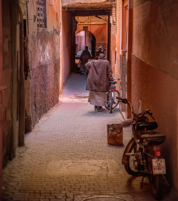 Old man in the streets of Marrakech