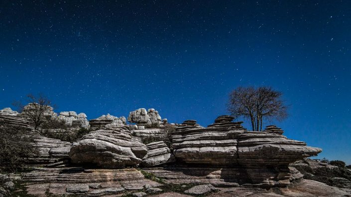 El Torcal under the stars