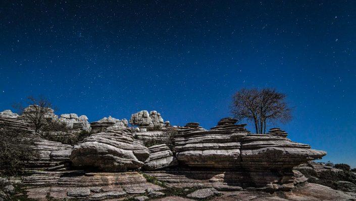 El Torcal under the stars