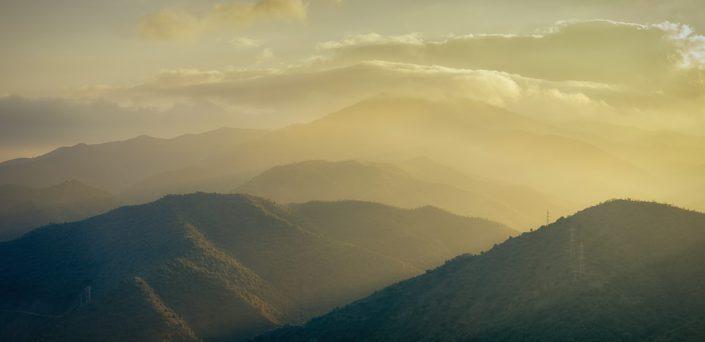 El Chorro Mountains at sunset