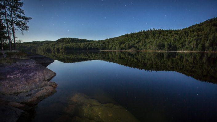 Sweden - Lake at night