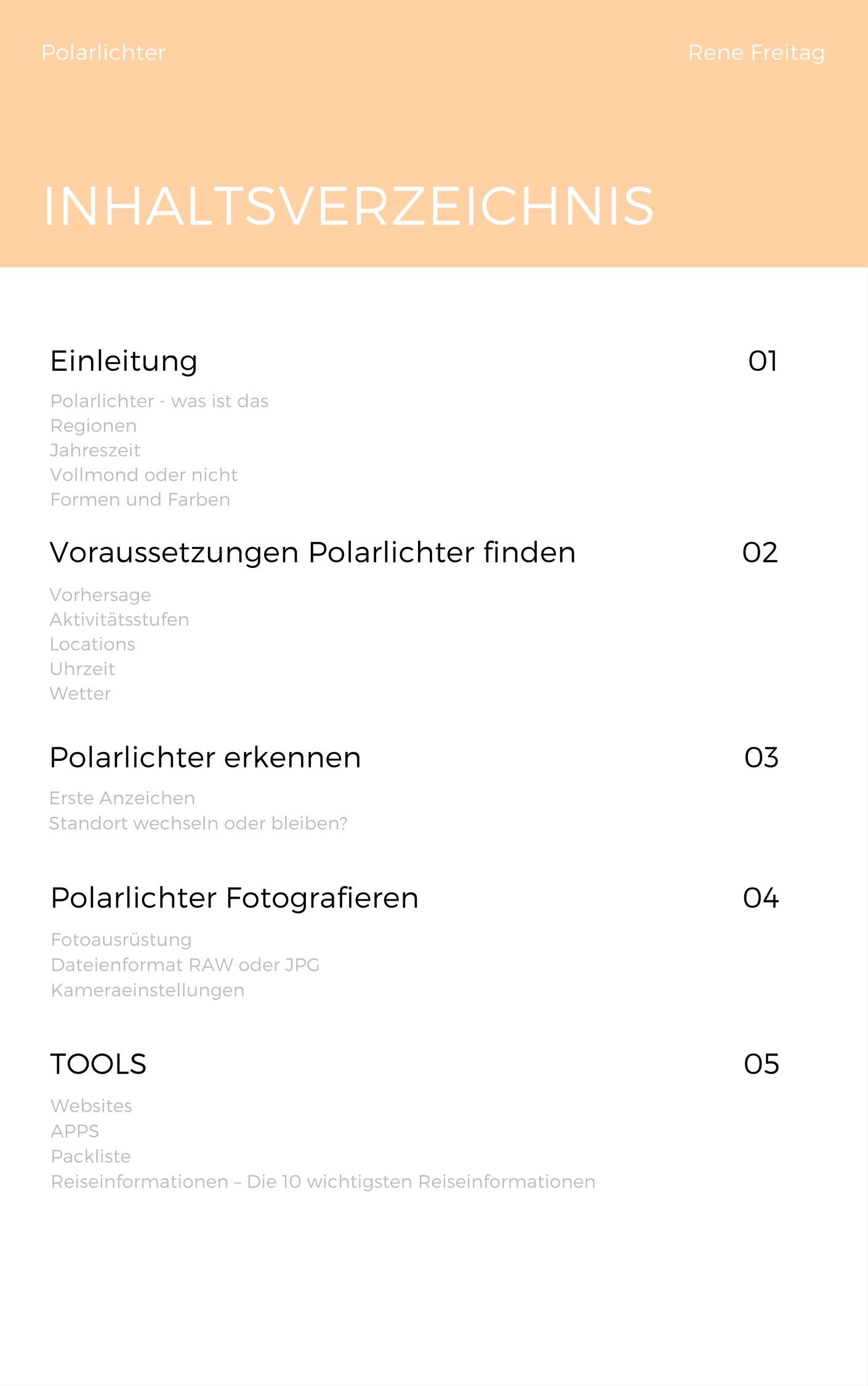 Inhaltsverzeichnis Polarlicht Guide