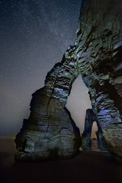 milkyway at catedrais beach in spain